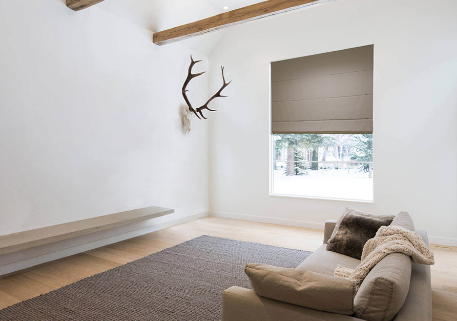 Roman shades with lining ensure a longer life.