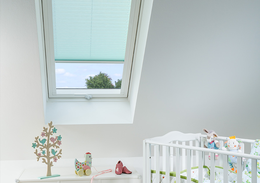 A pleated blind is ideal for roof windows.