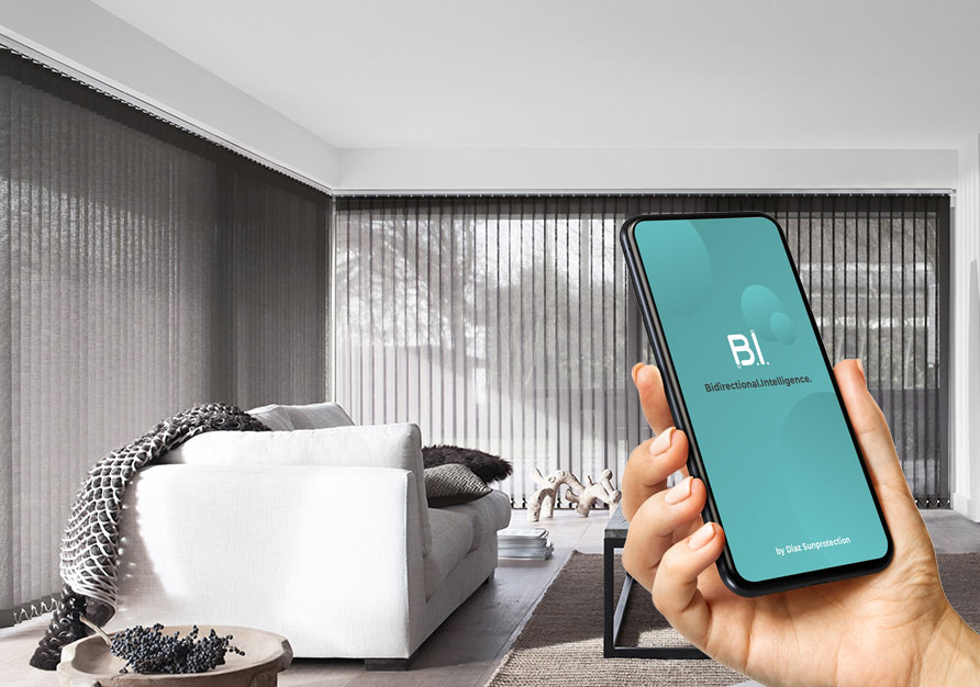 With Diaz B.I. you can control your blind with an app.