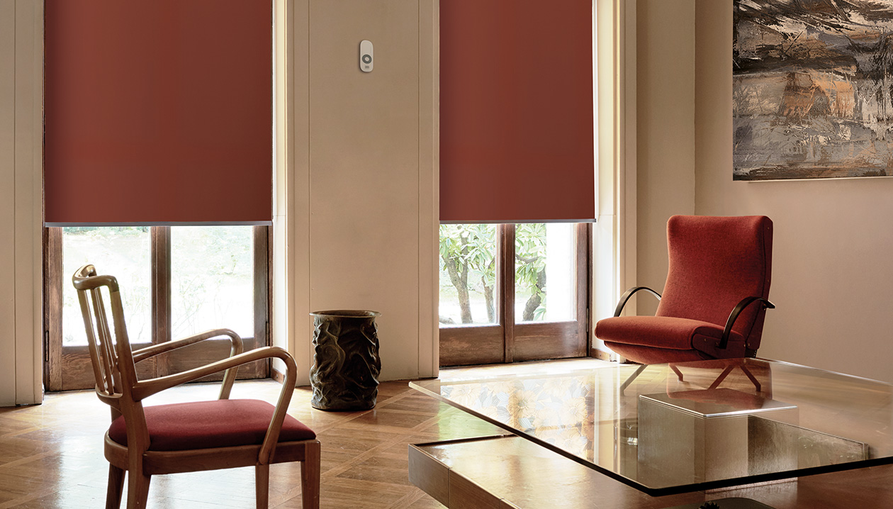 roller blinds with electric command