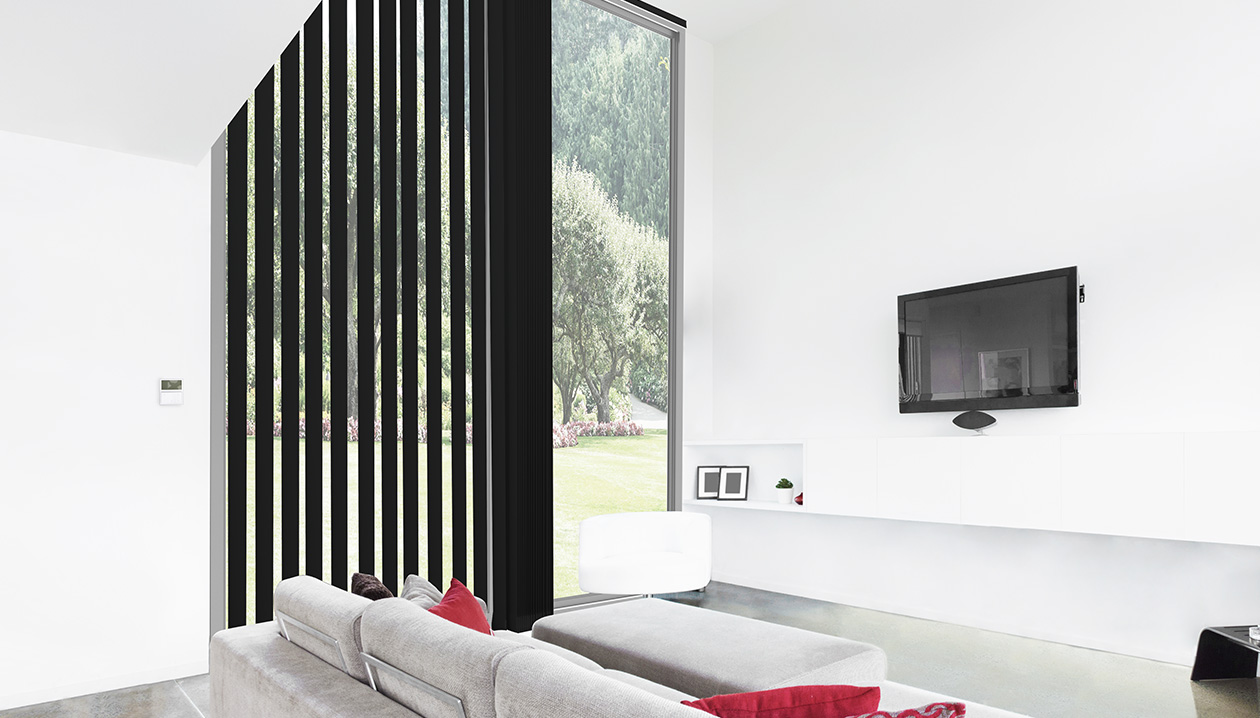 vertical blinds with electric command