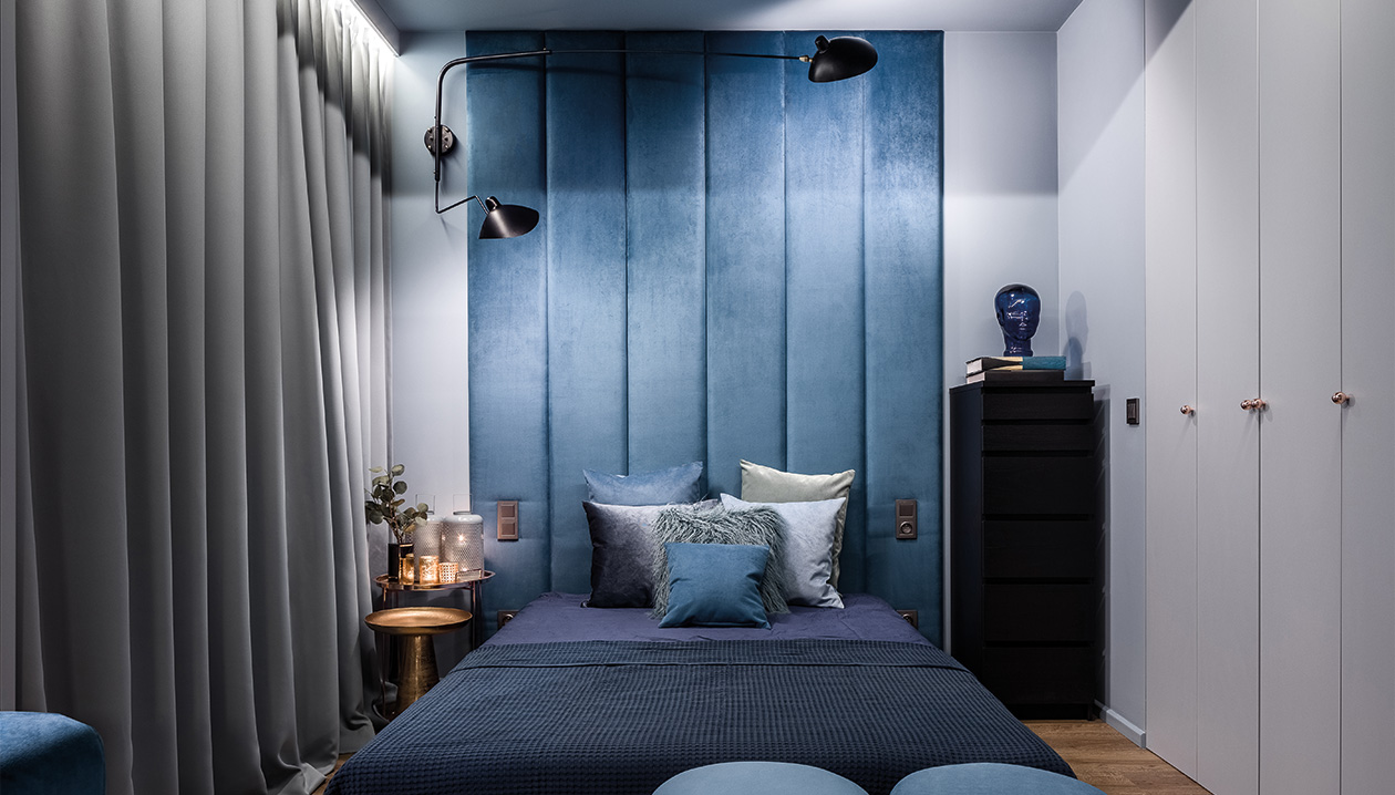 Black-out curtains are popular in the bedroom.